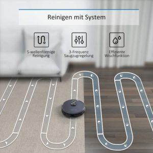 Tesvor S6 Staubsauger Roboter im Test Reinigen nach System